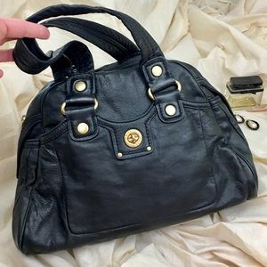 Marc Jacobs Turnlock Small Hobo Bag Black Leather